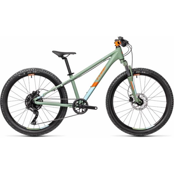 "CUBE ACID RACE 240 Disc Green'n'Orange 24"" 2021 alu gyerek kerékpár"