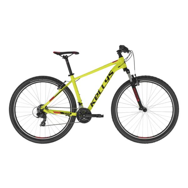 """Kellys Spider 10 Neon Yellow (L) 29"""" 2021 alu MTB kerékpár"""