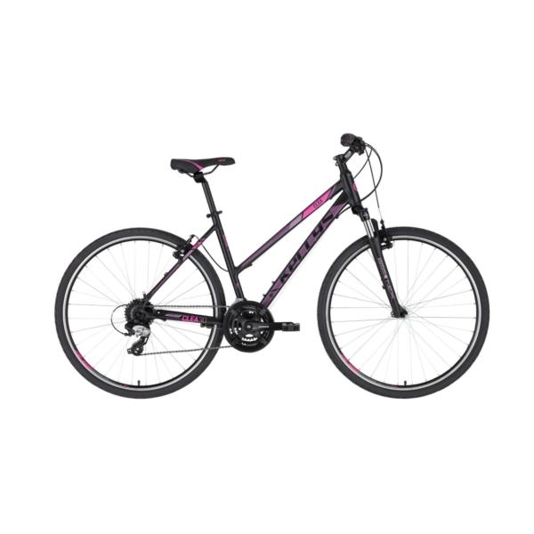 "Kellys CLEA 30 Black-Pink 28"" 2021 Alu Cross-Trekking Kerékpár"