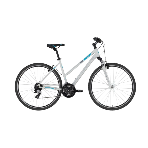 """Kellys CLEA 30 White 28"""" 2021 Alu Cross-Trekking Kerékpár"""