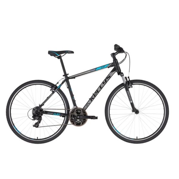 "Kellys CLIFF 10 Black Blue 28"" 2021 Alu Cross-Trekking Kerékpár"