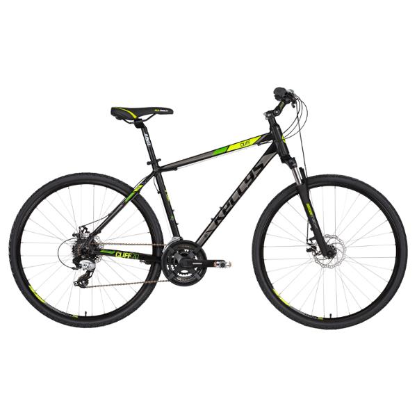 "Kellys CLIFF 70 Black-Green 28"" 2021 (M) alu Cross-Trekking kerékpár"