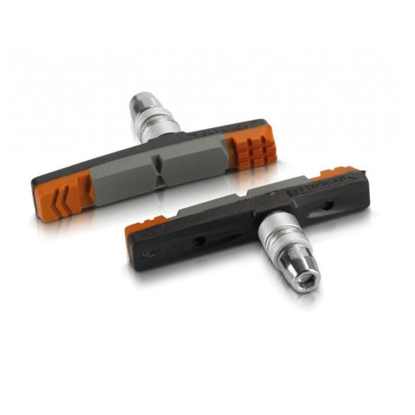 XLC (BS-V09) fékpofa szett (szürke/narancs/fekete)