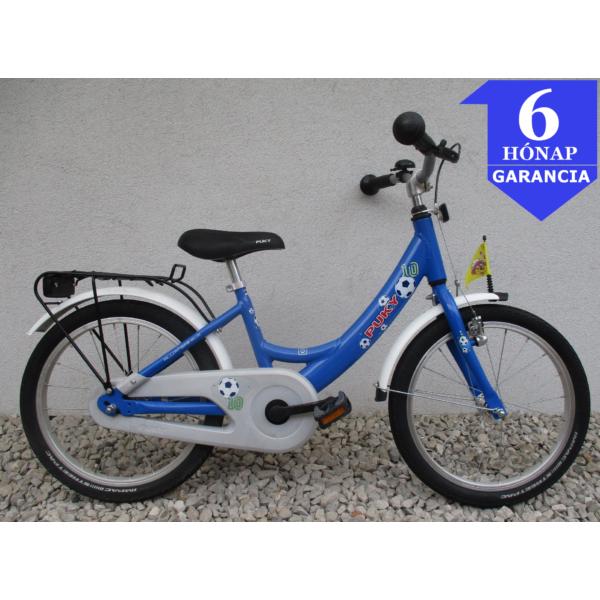 """Puky Sport Blue 18"""" használt alu gyerek kerékpár"""