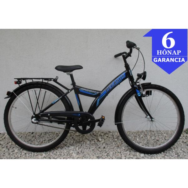 """Pegasus Arcona 3 Black'n'Blue 24"""" használt gyerek kerékpár"""