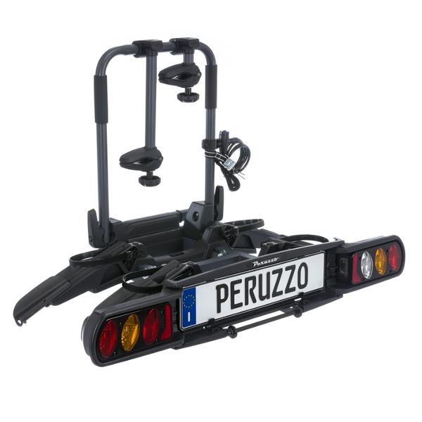 Peruzzo Pure 2 Lock vonóhorogra szerelhető kerékpár szállító, 2 kerékpárhoz